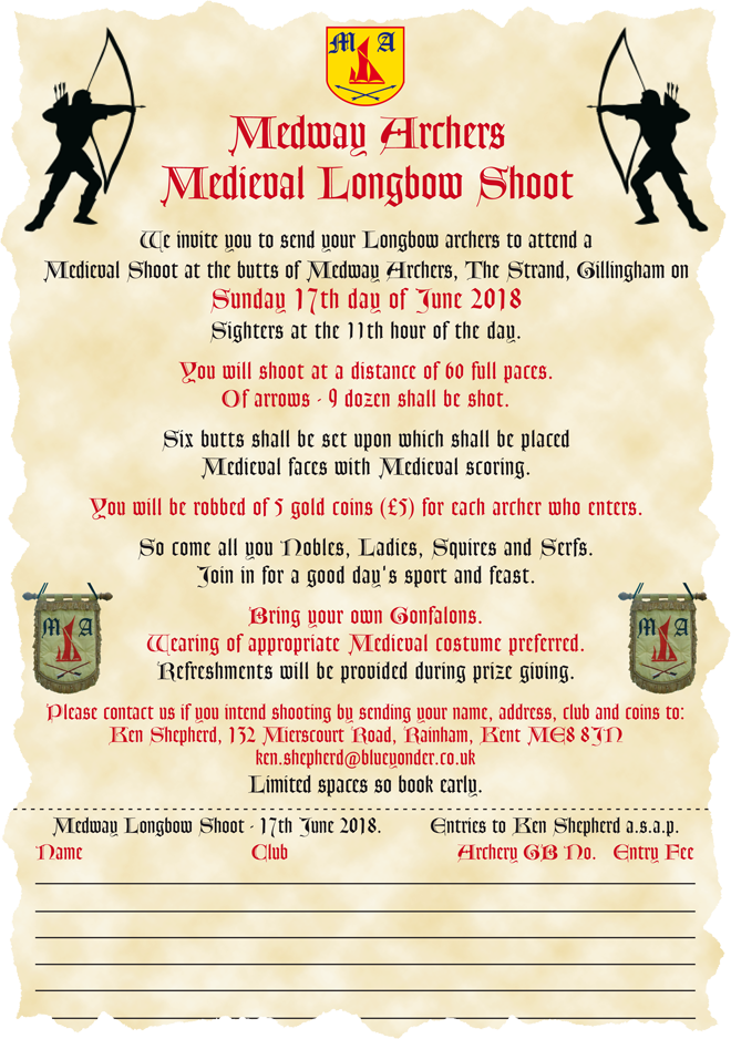 Tournament entry form